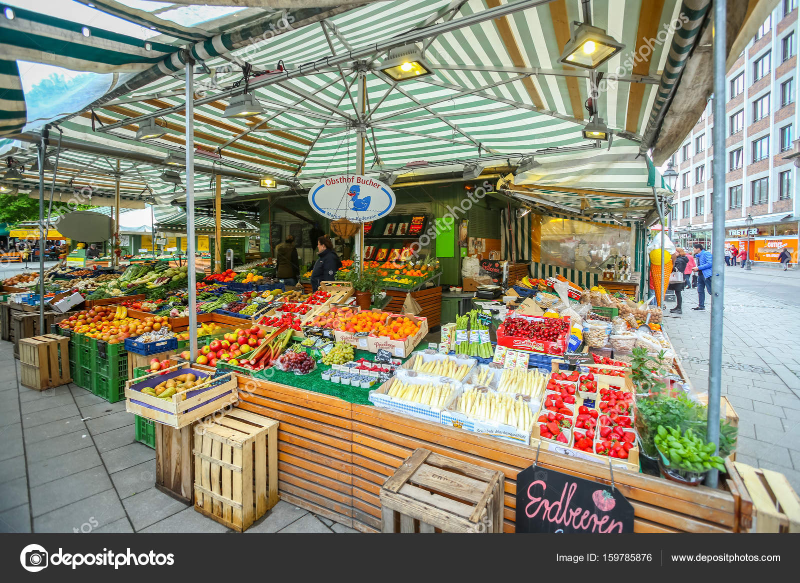 Outdoor food market in munich stock editorial photo for Outdoor food market