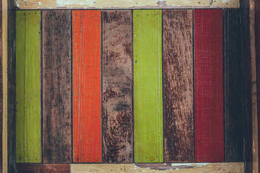 top view of colorful old wooden planks for background