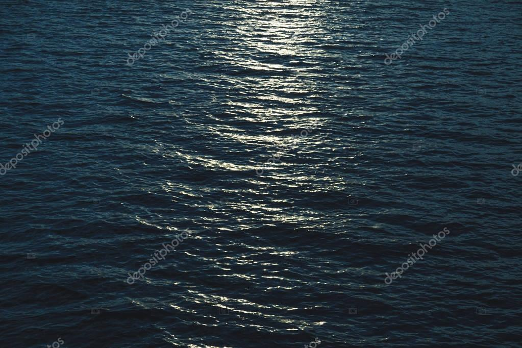 beautiful sea surface with moonlight reflection