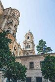 nízký úhel pohledu catedral de malaga, malaga, Španělsko