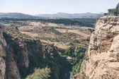 beautiful landscape with hills and mountains, ronda, spain