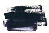 abstraktní malba s tmavě fialové a černé tahy na bílém