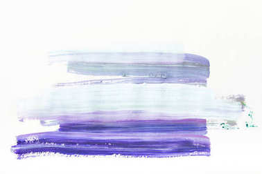 abstract painting with dark and light blue brush strokes on white