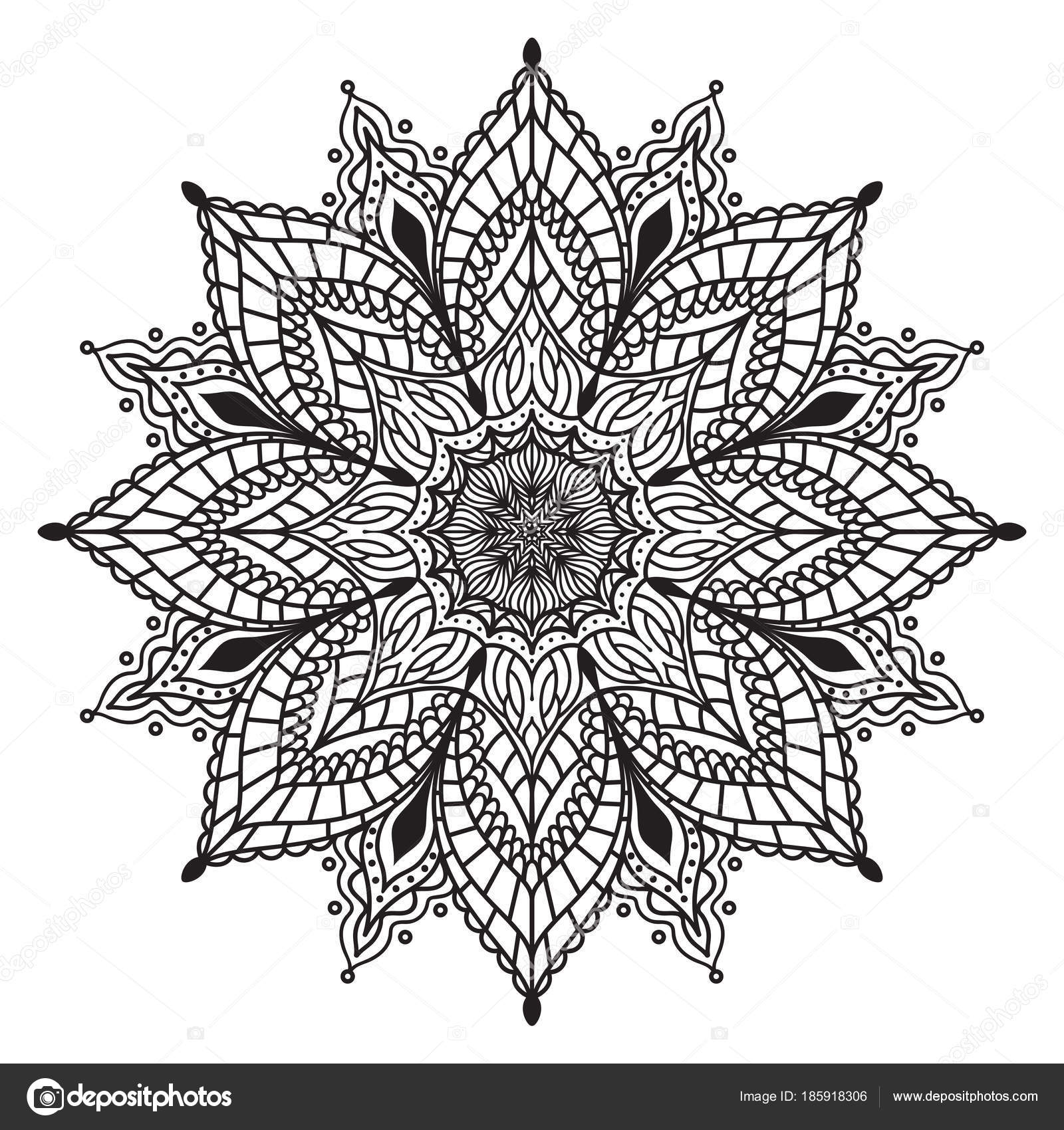 Simple Floral Mandala - Mandalas Adult Coloring Pages | 1700x1600