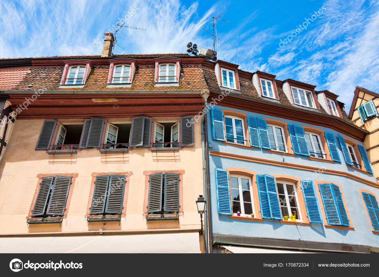 View Of A House Front With Old Half Timbered Houses And