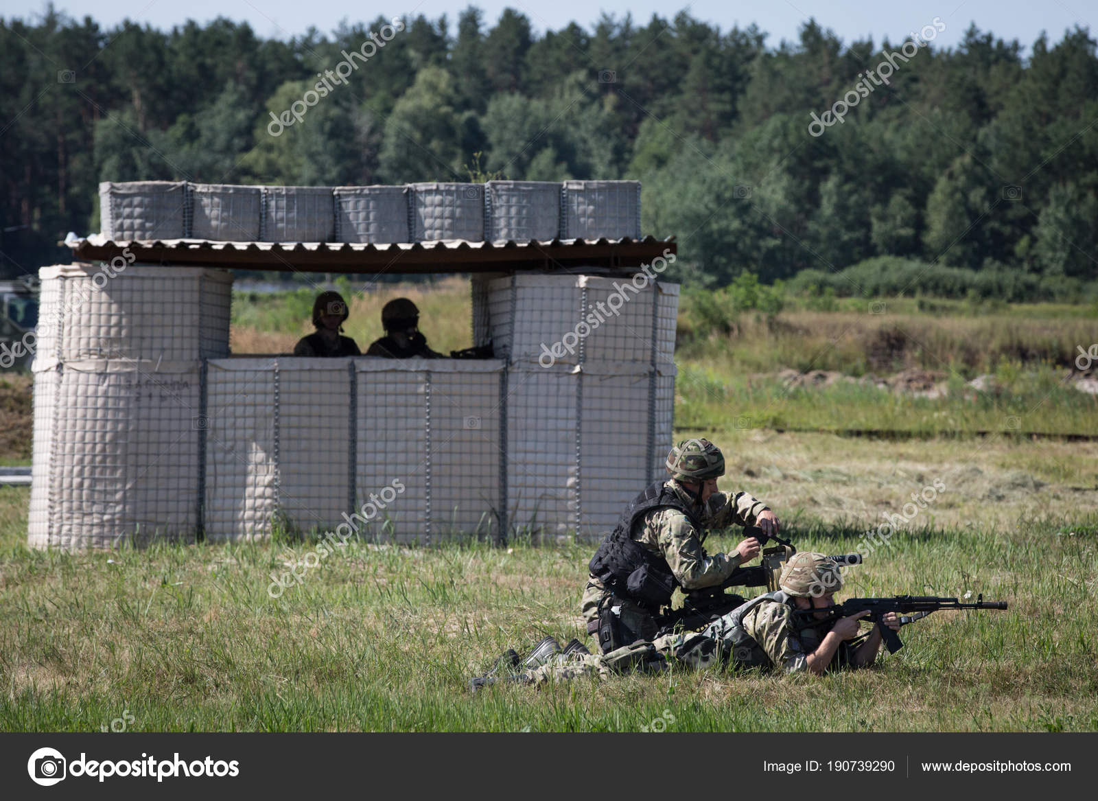 Service and combat training of special forces on the range