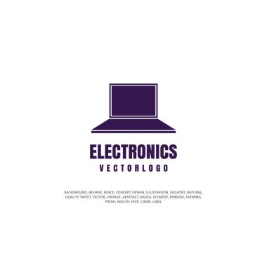 icon, computer, object silhouette. Vector illustration