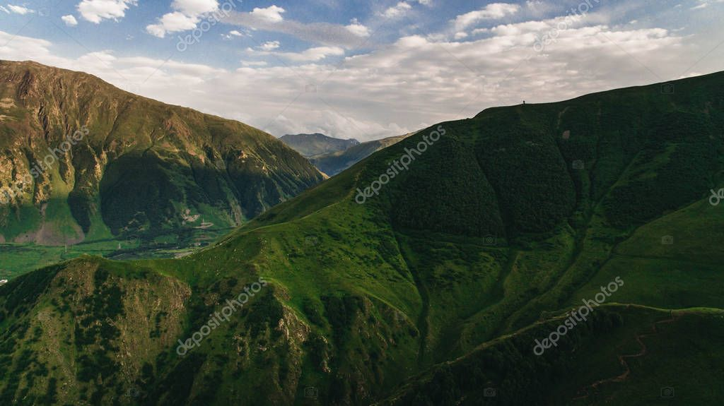 green georgian mountains