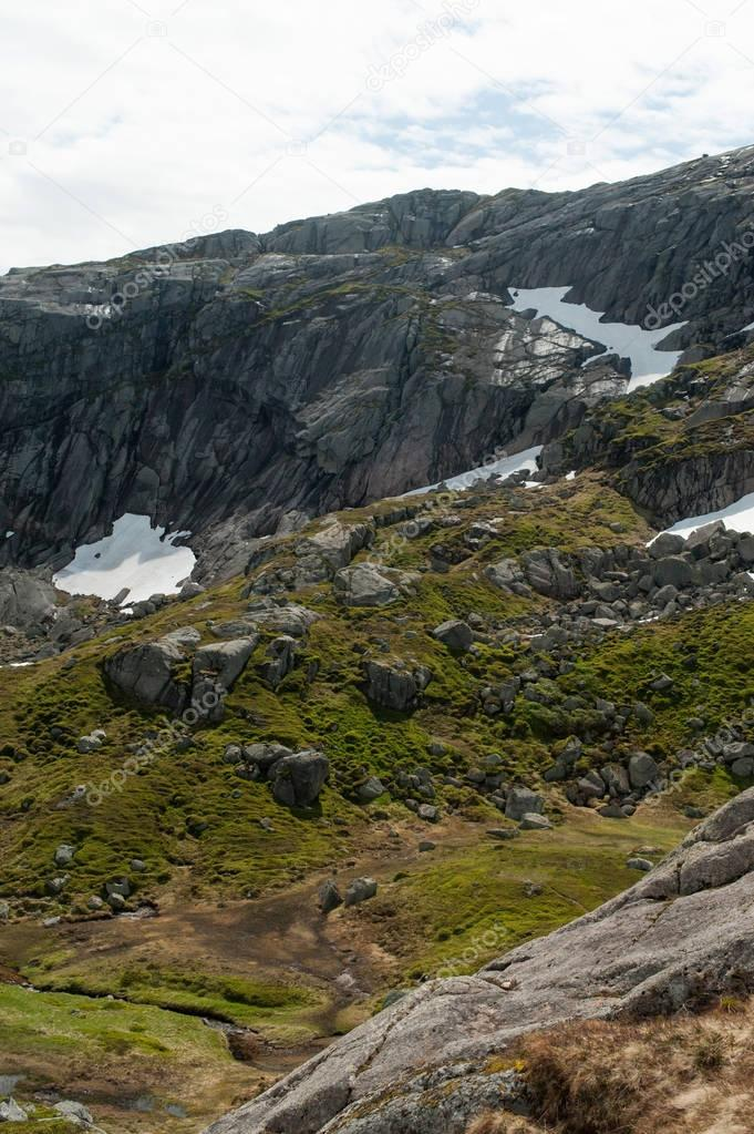 rocky mountains in Norway