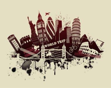 London landmarks composition