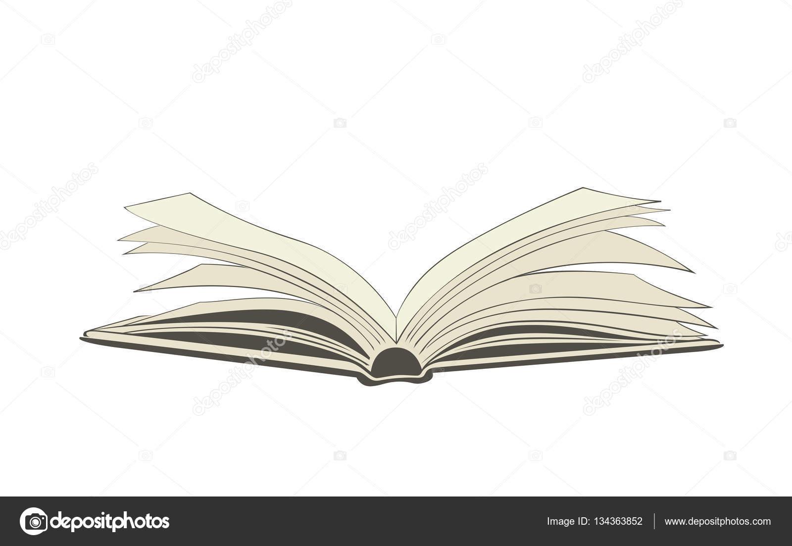 dibujo de un libro abierto vector de stock