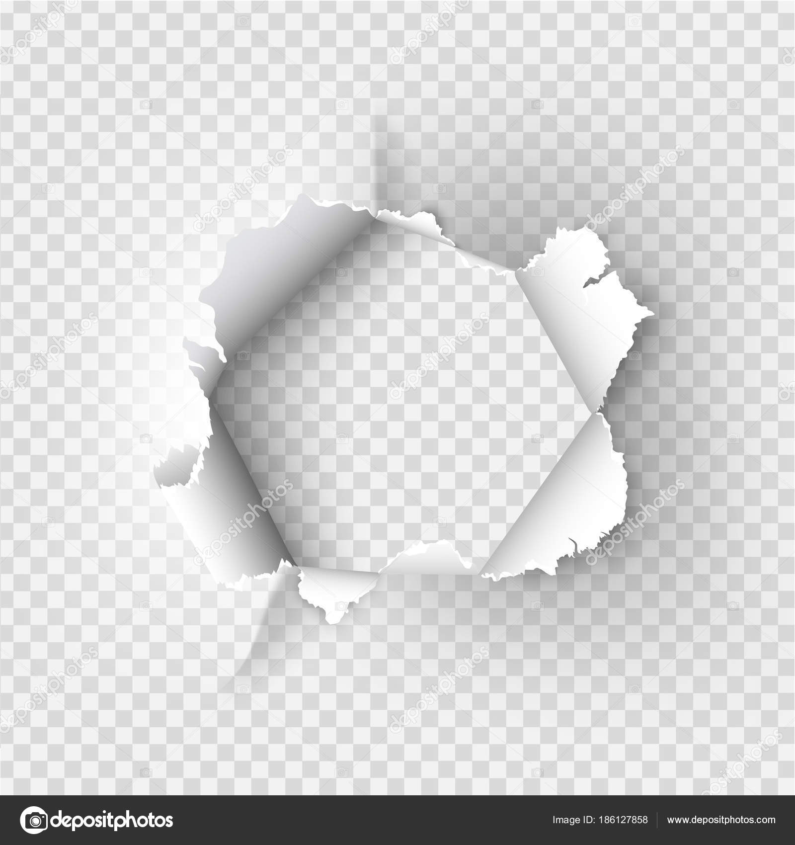 Bullet Hole Paper Vector