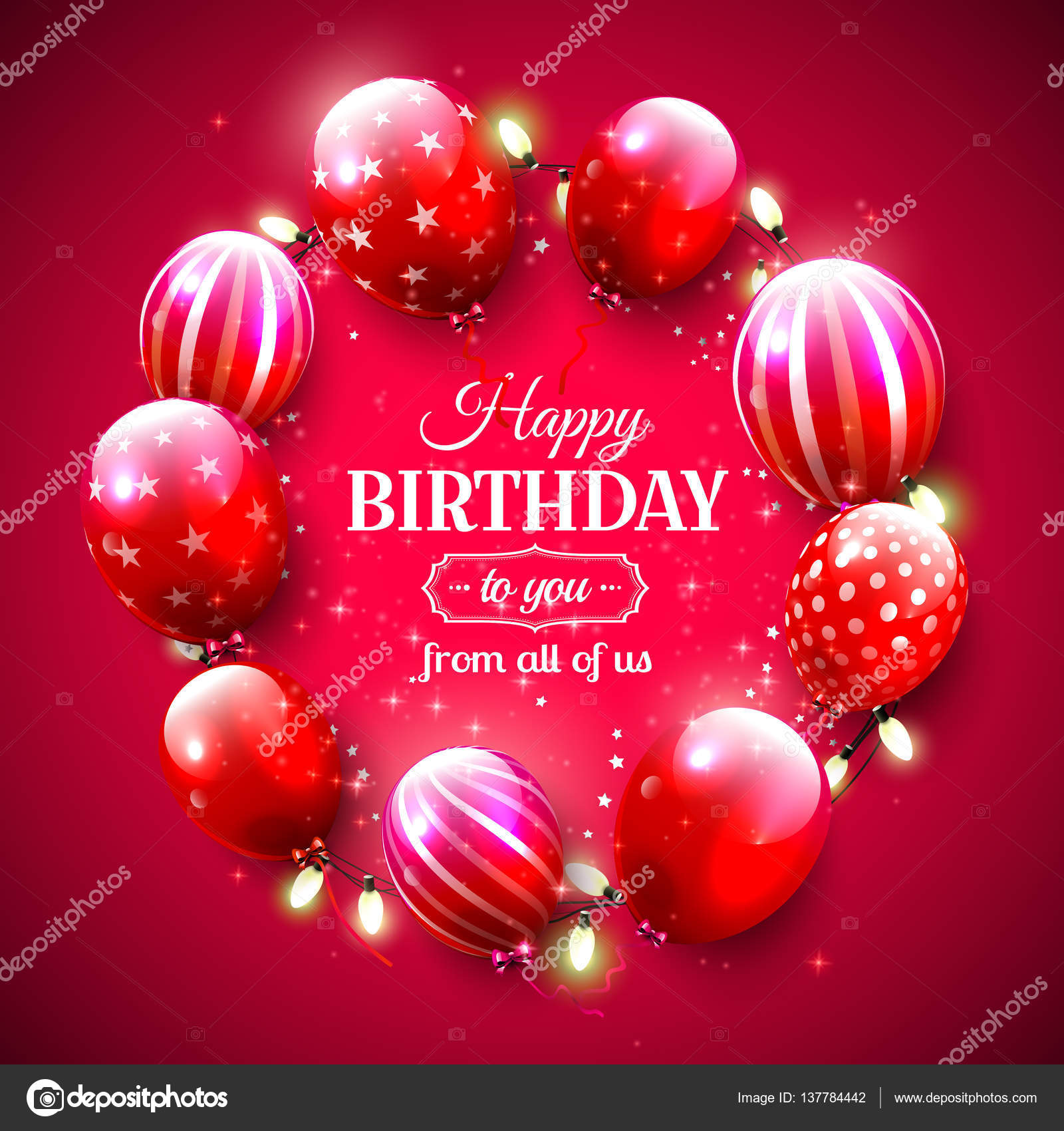 Luxury birthday greeting card stock vector kaktus2536 137784442 luxury birthday greeting card stock vector kristyandbryce Image collections