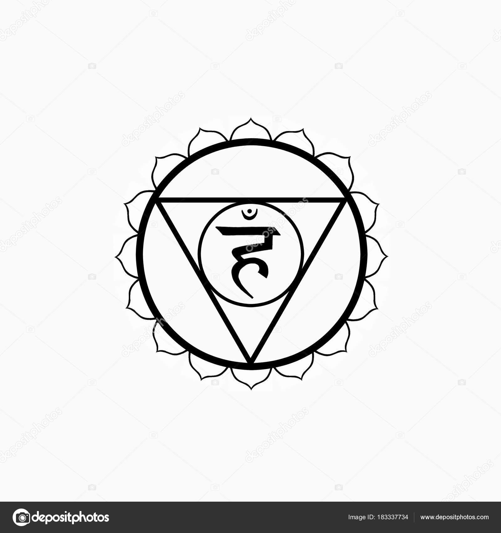 Throat Chakra Symbol Visuddha Foto De Stock Universaltouch