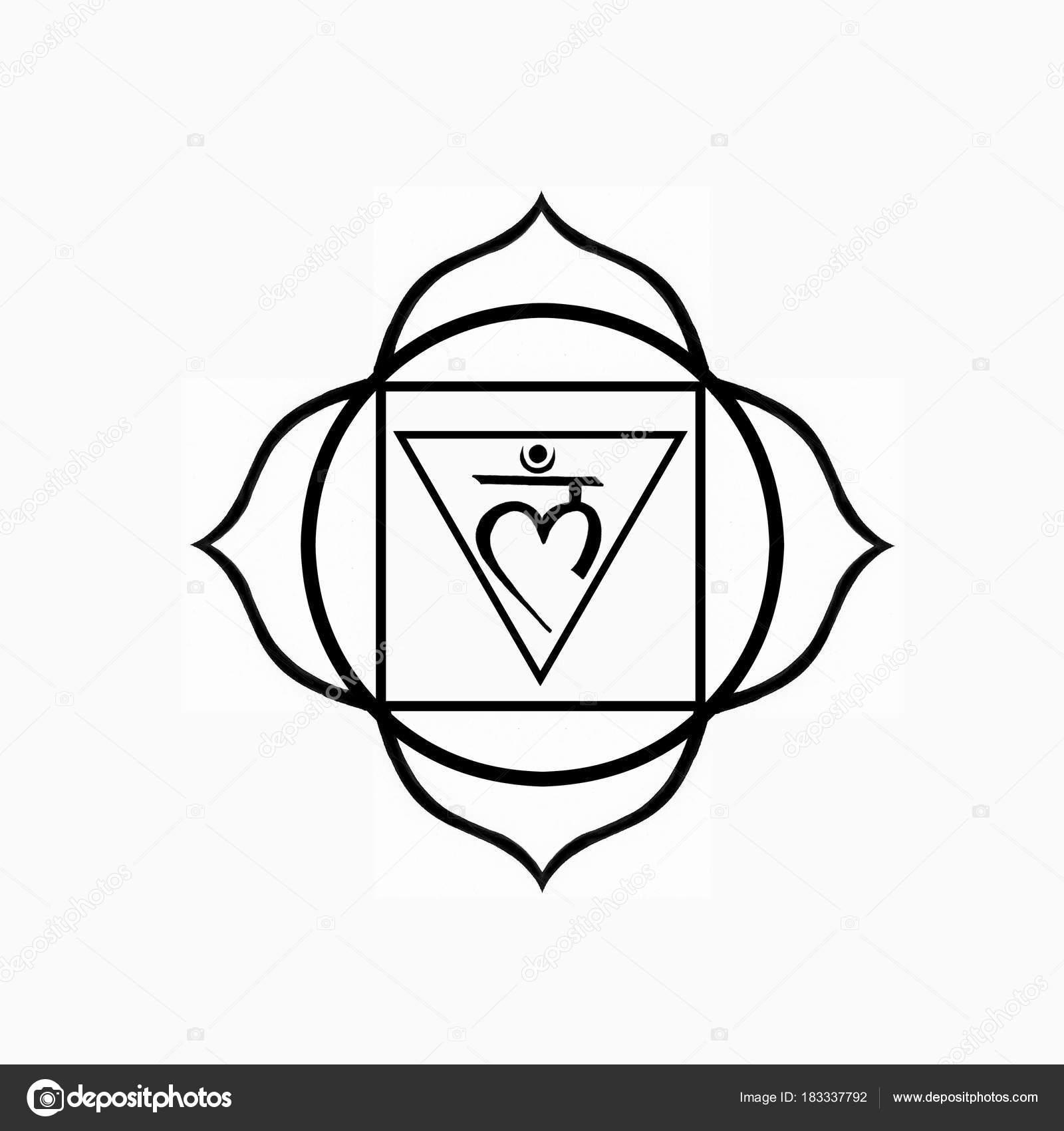 Root Chakra Symbol Muladhara Foto De Stock Universaltouch 183337792