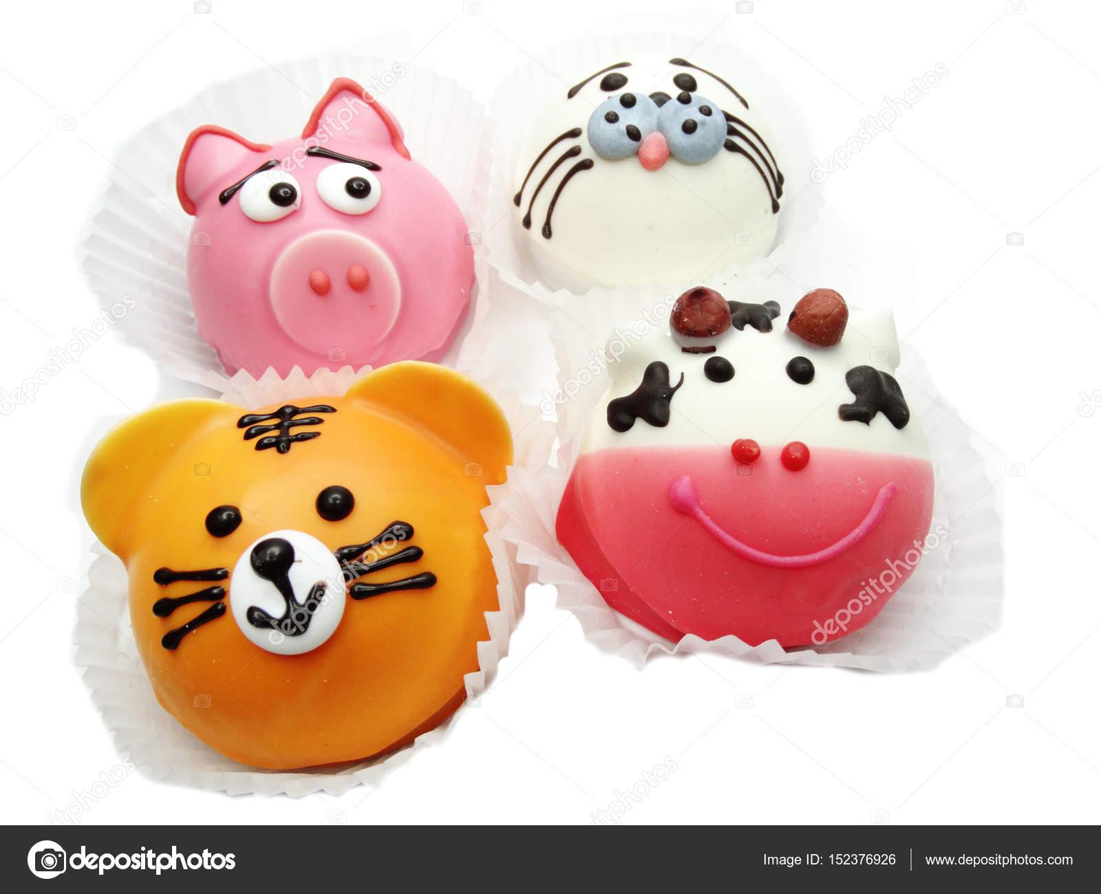 Kreative Kuche Kuchen Fur Die Kinder Lustiger Tierform Stockfoto