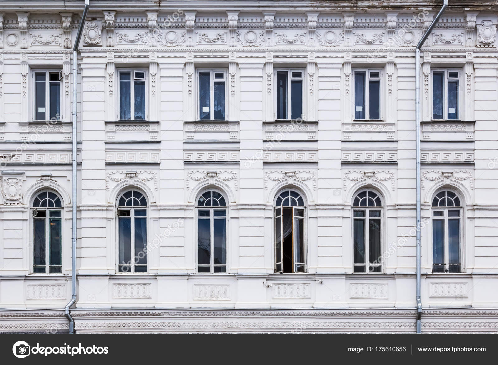 Fries Architektur vintage architektur weißem stuck klassische fassade reich verziert