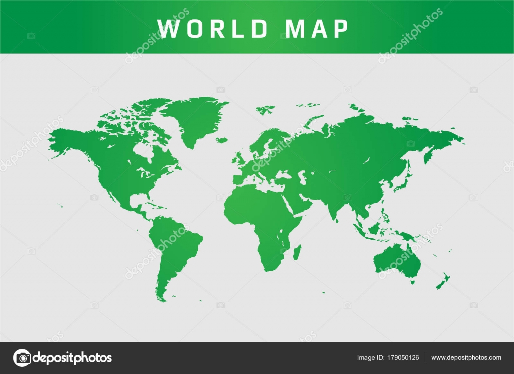 Map Of The World Simple.World Simple Map Vector Eps Stock Vector C Arsyadnote 179050126