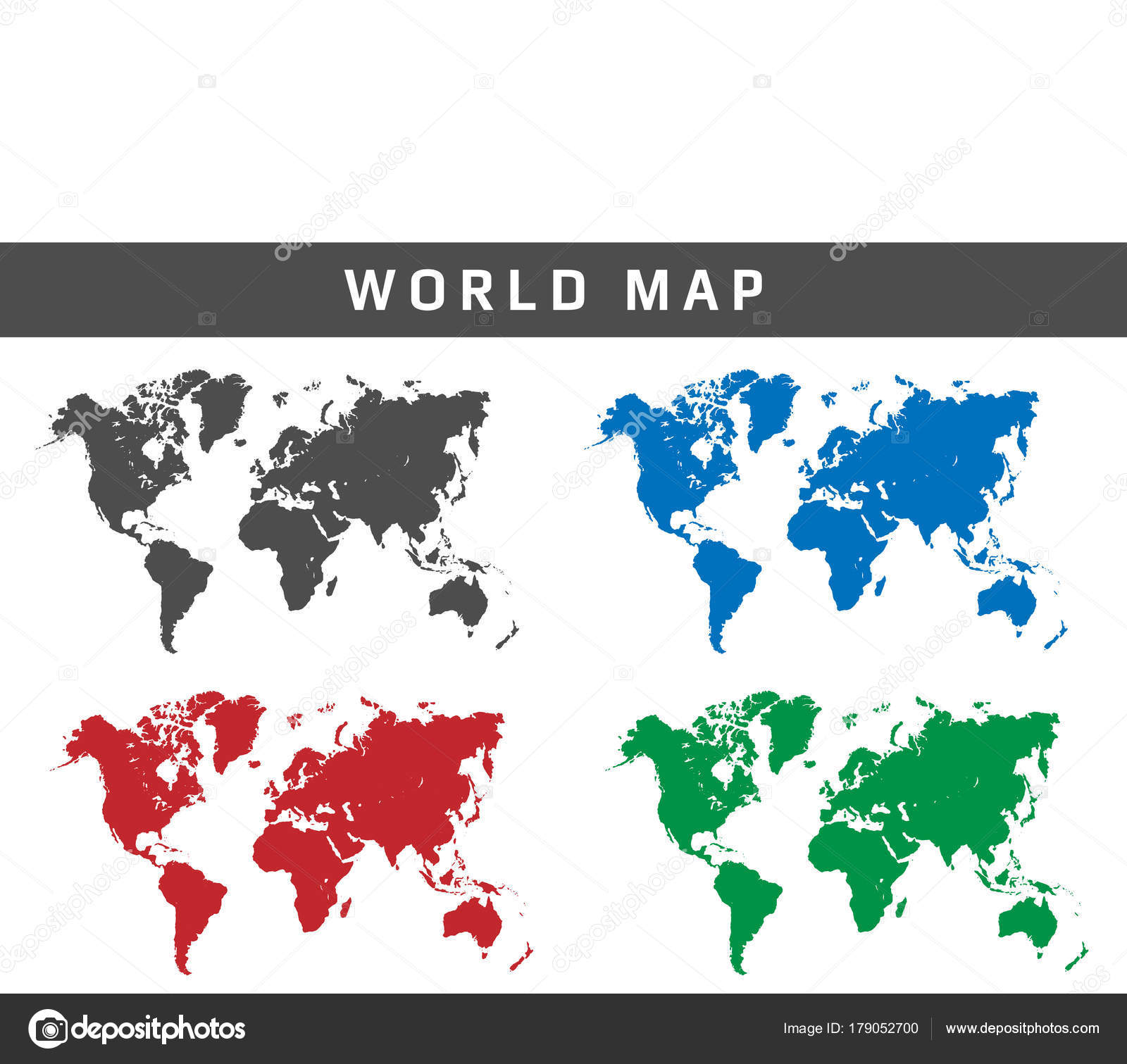 World simple map vector eps10 stock vector arsyadnote 179052700 world simple map vector eps10 stock vector gumiabroncs Image collections