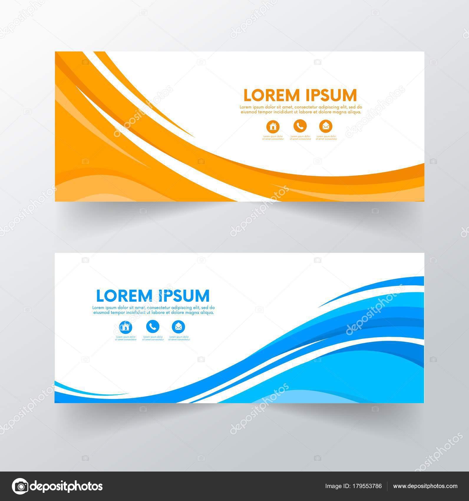 Banners Diseño Plantilla Diseño Creativo Folleto Aviador Vector ...