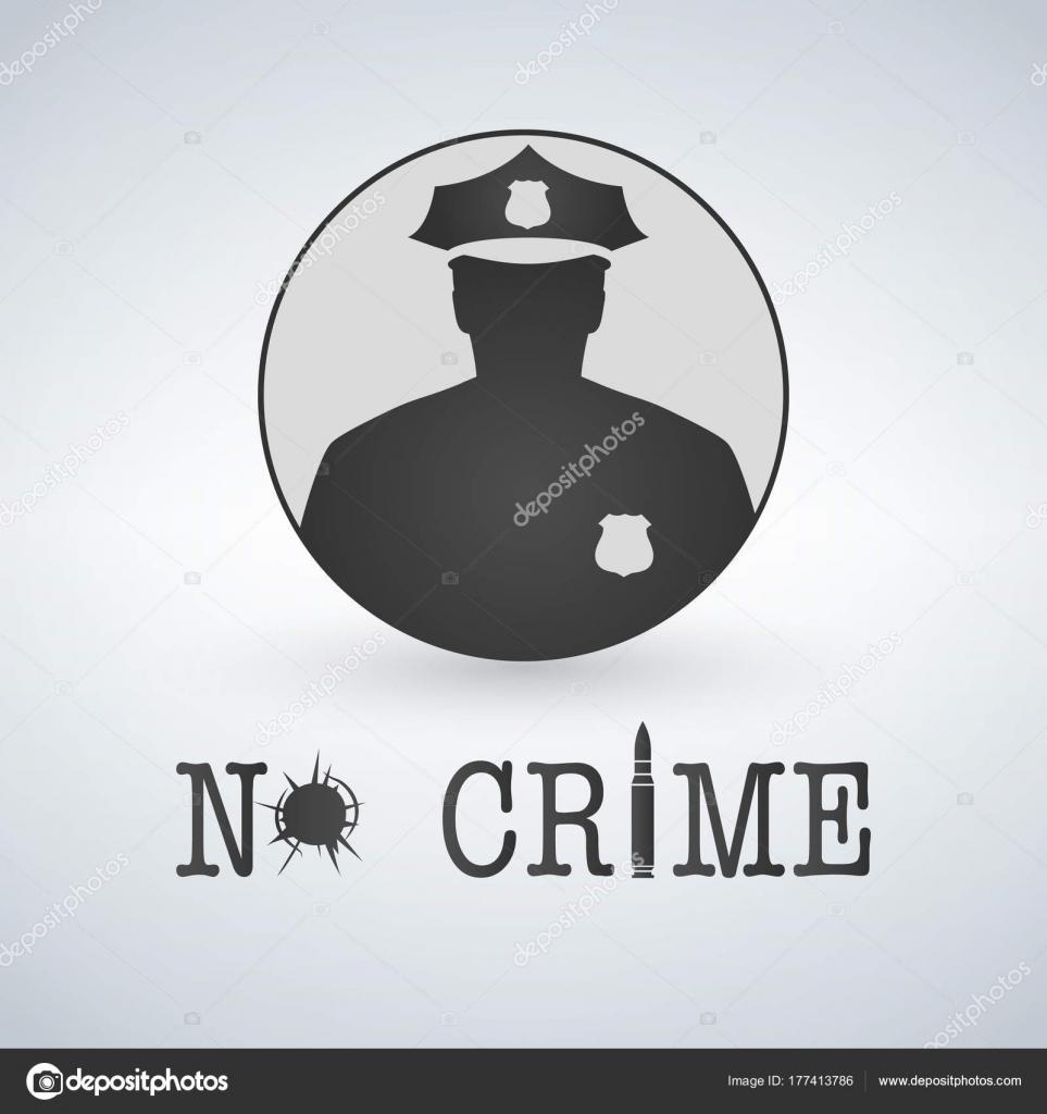 Oficial de policía icono detener la delincuencia. Ley y orden ...
