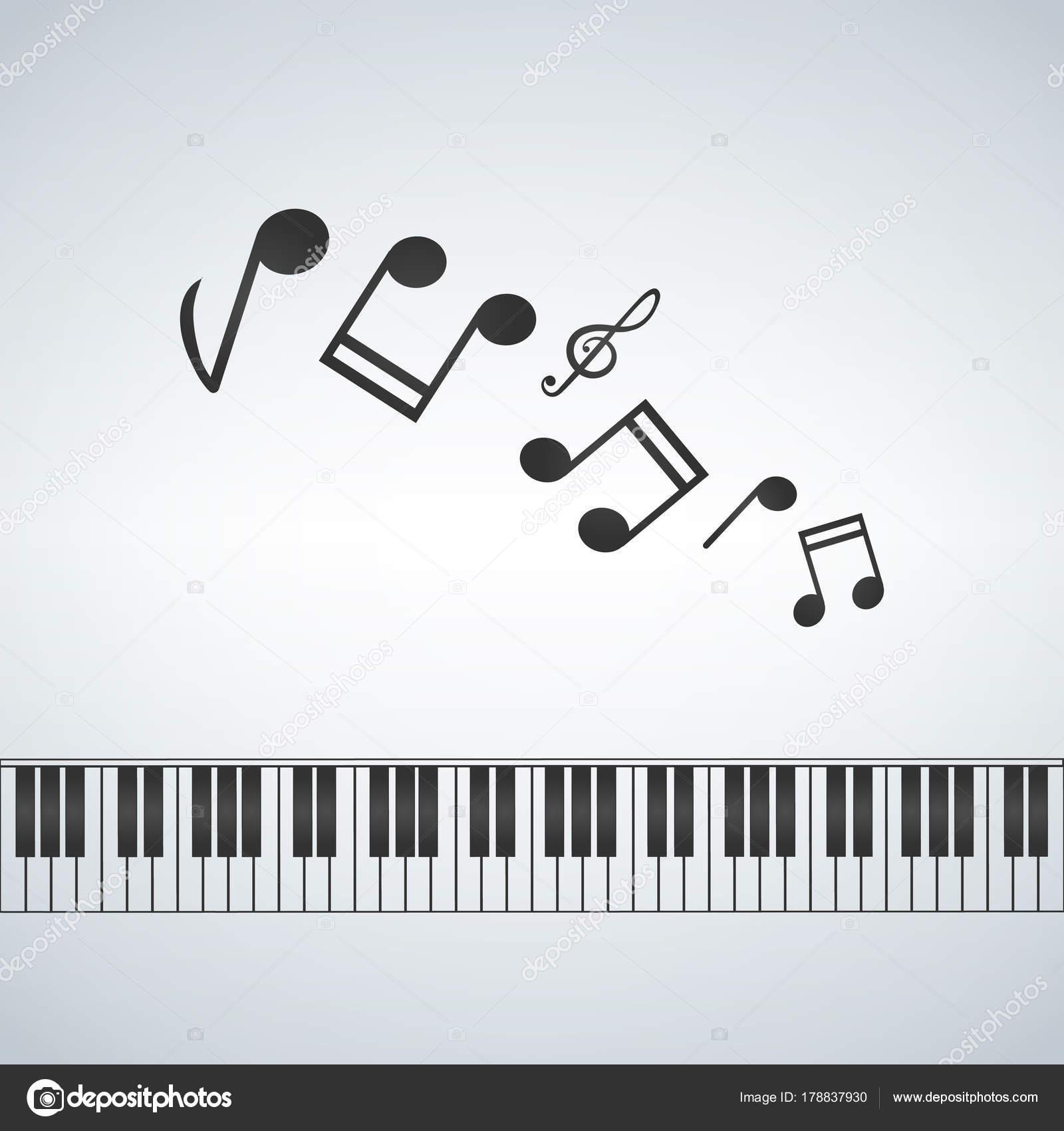 plantilla de piano, Ilustración de concepto creativo de la música ...