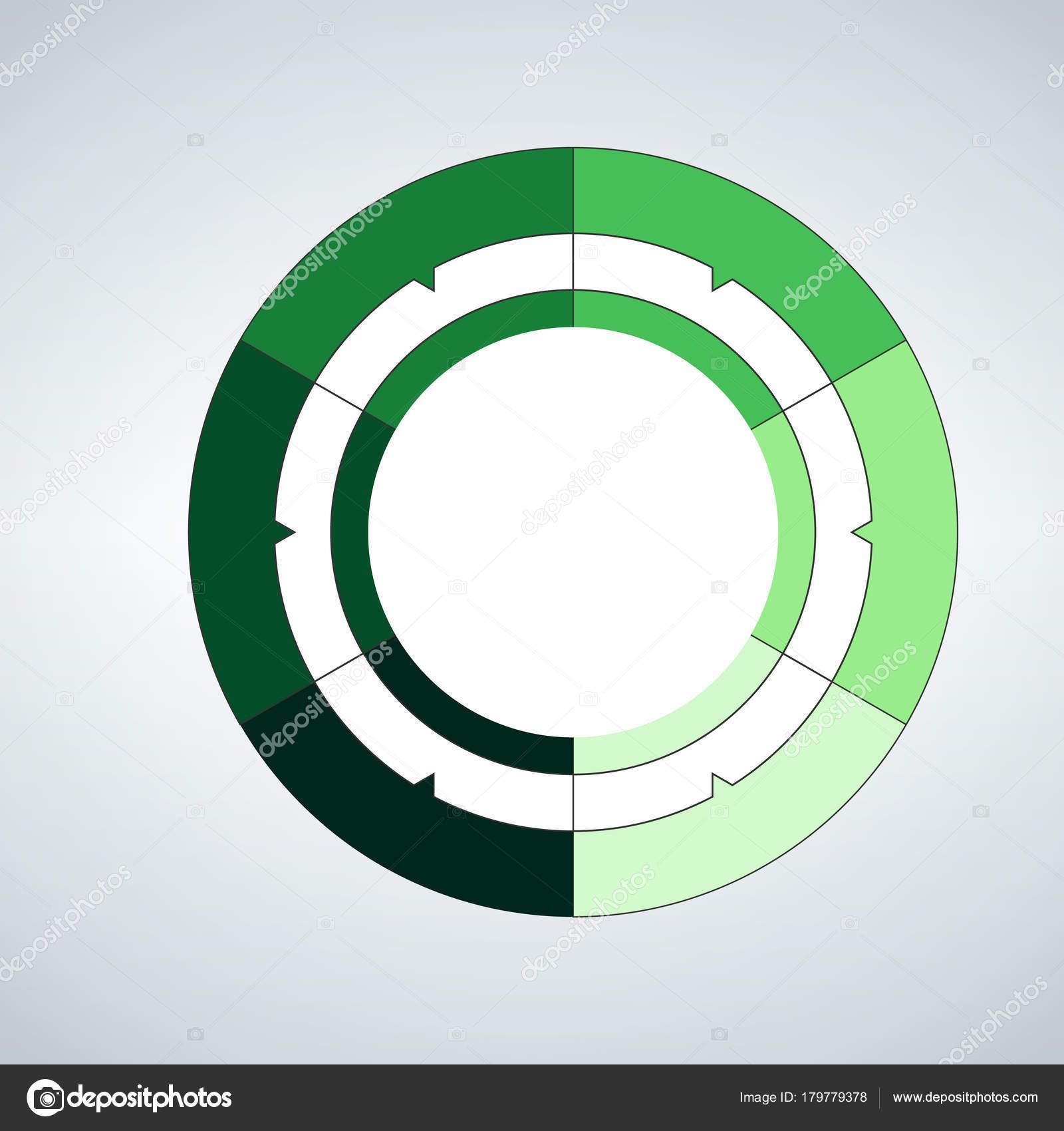 modelo de círculo de vetor para infográficos conceito de negócio