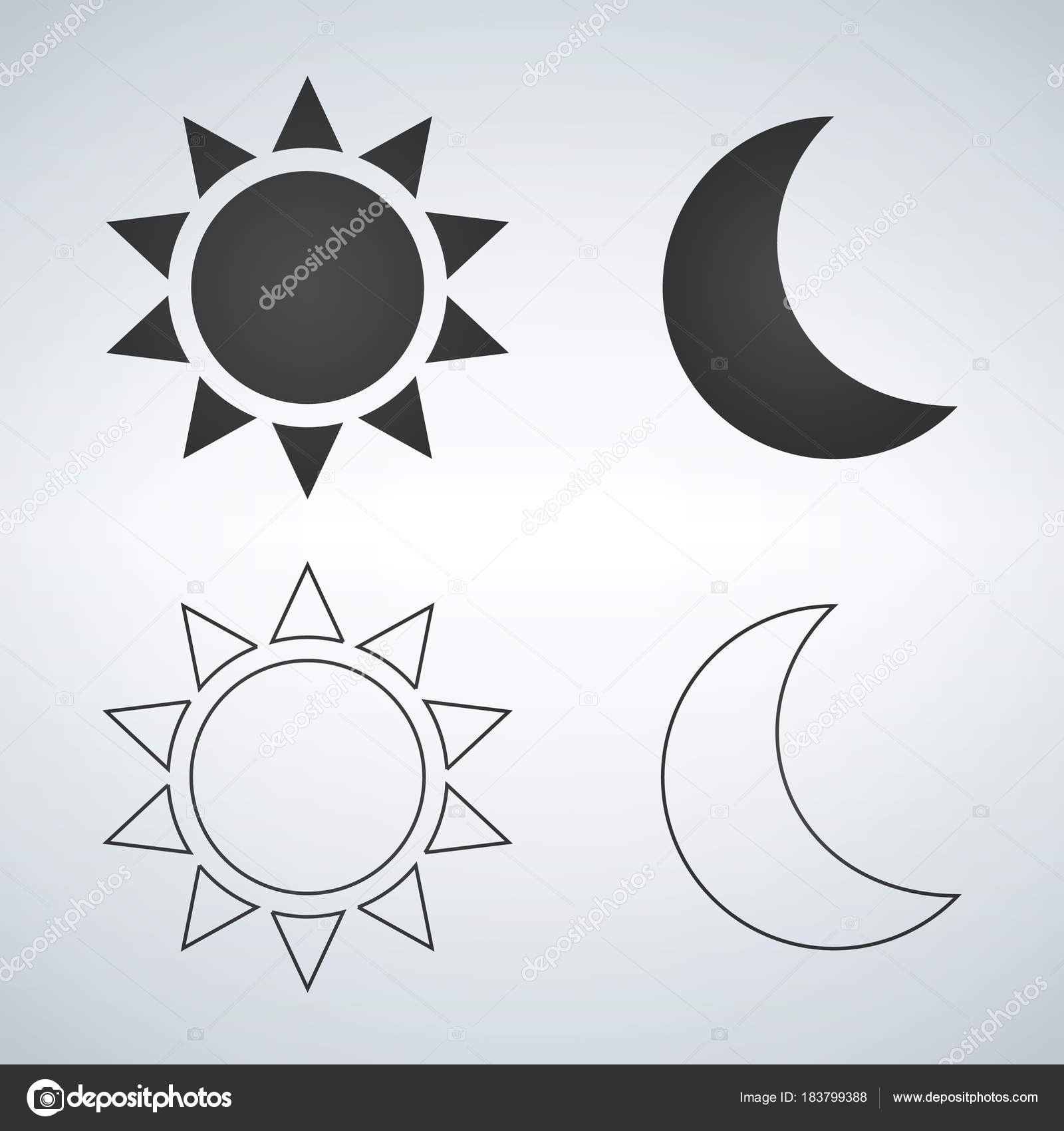 Sun and moon flat and linear icon vector icon for web design sun and moon flat and linear icon vector icon for web design mobile biocorpaavc Images