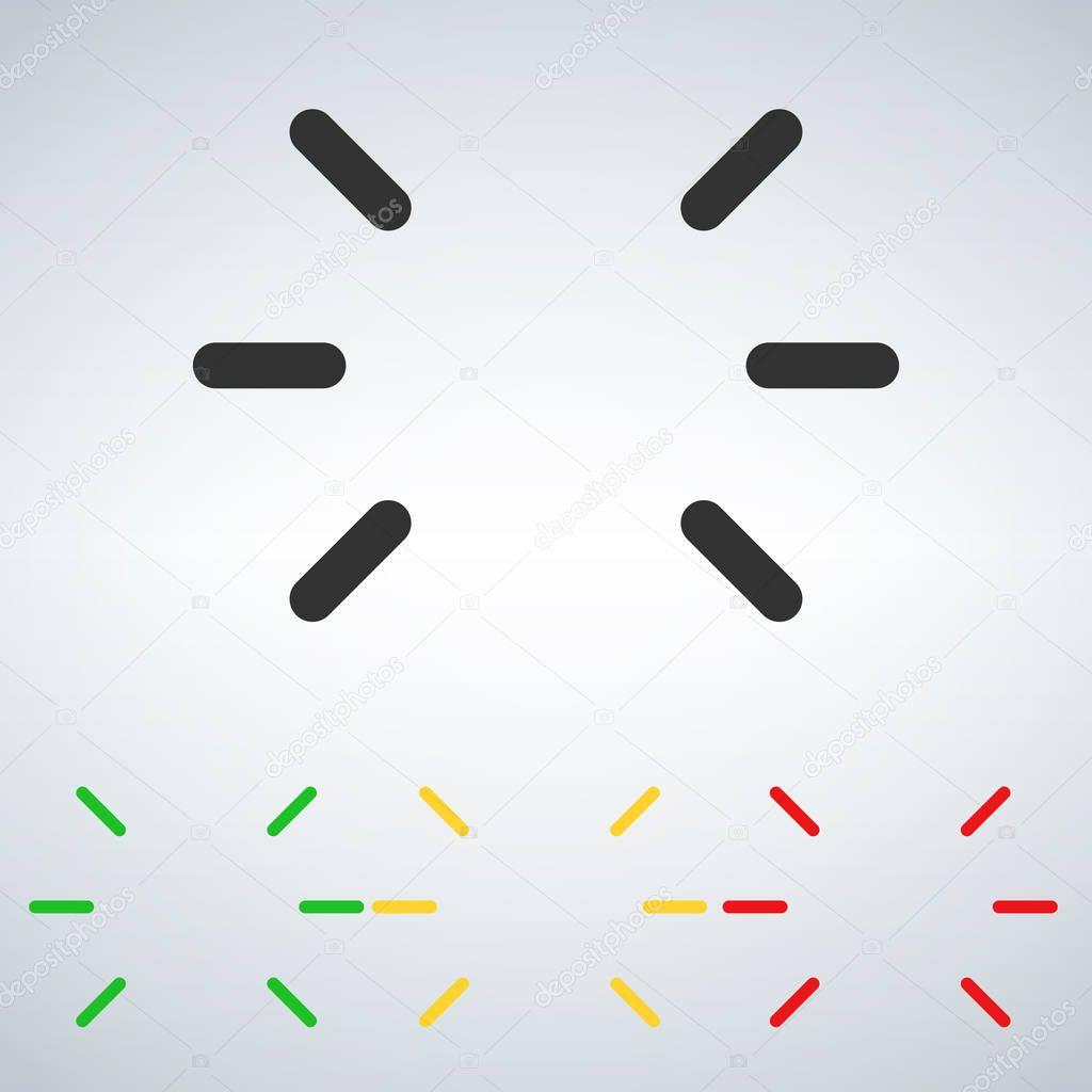 ✓ led flashing status light green,yellow,red. vector illustration isolated  on modern background premium vector in adobe illustrator ai ( .ai ) format,  encapsulated postscript eps ( .eps ) format  wdrfree