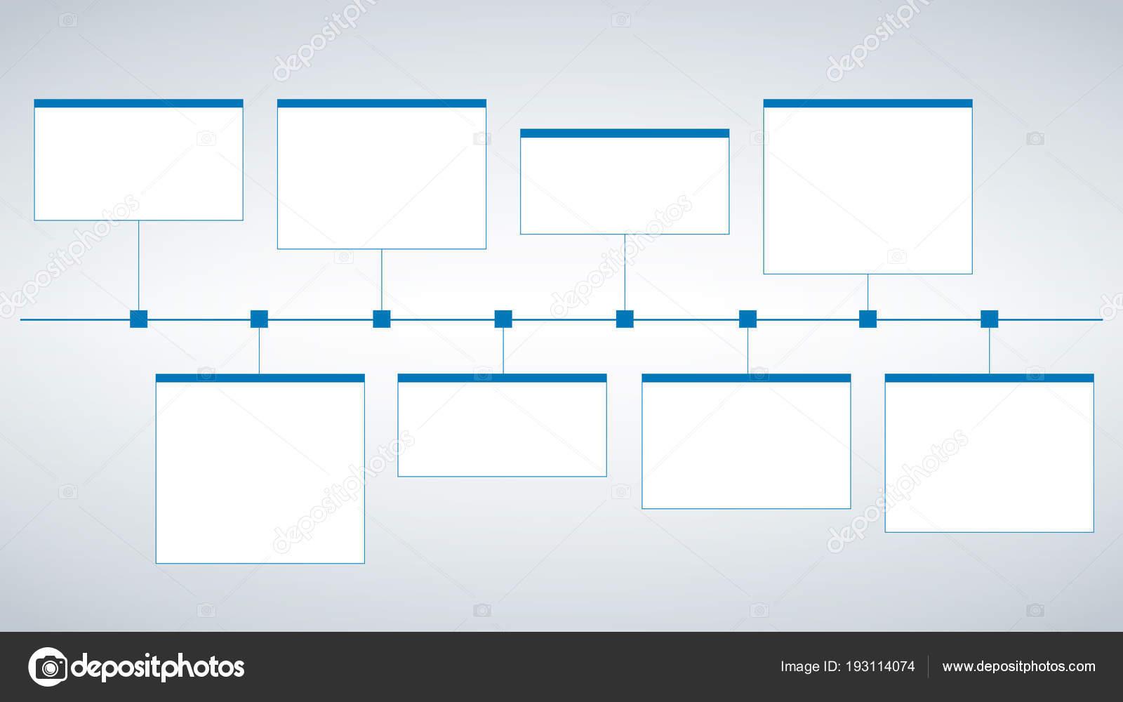Modelo De Cronograma De Estilo Moderno De Negócios Limpos