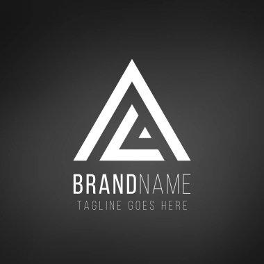 AL A L Letter Logo desugn. Geometric triangle template. Technology business identity concept. Creative corporate template. Stock Vector illustration