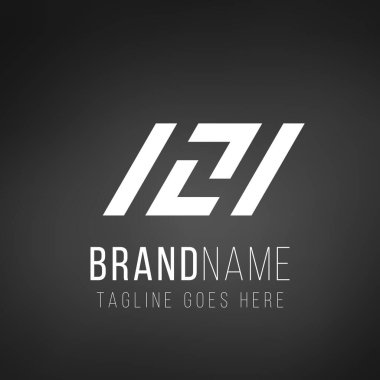 121 numbers or ISI letter logo design. Business identity element. Stock Vector illustration isolated on white background.
