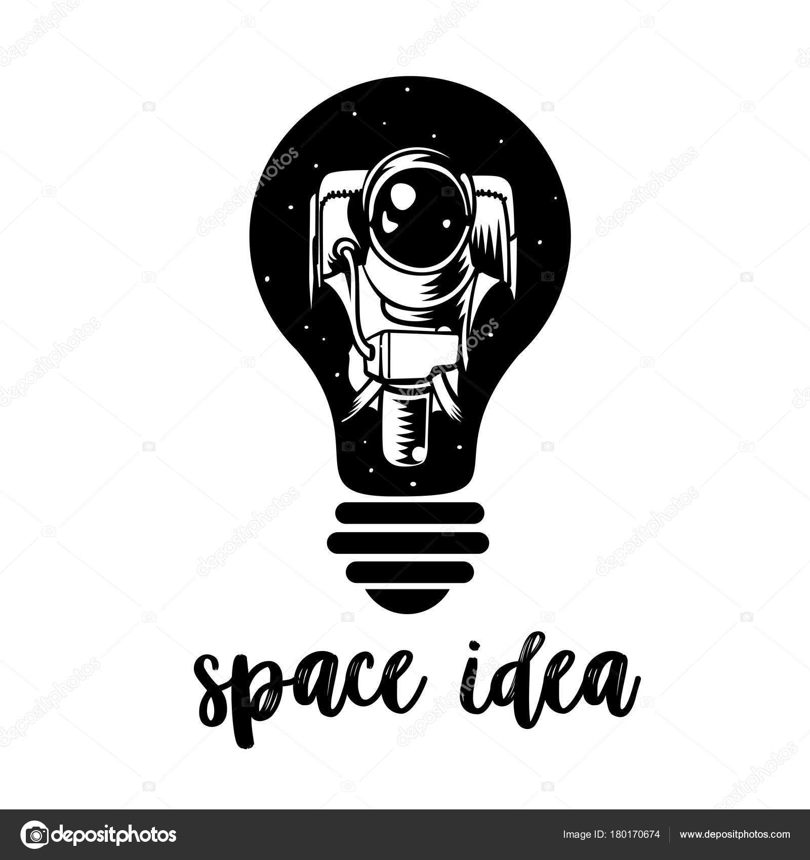 Astronaut In A Light Bulb Symbol Of Creative Thinking New Ideas