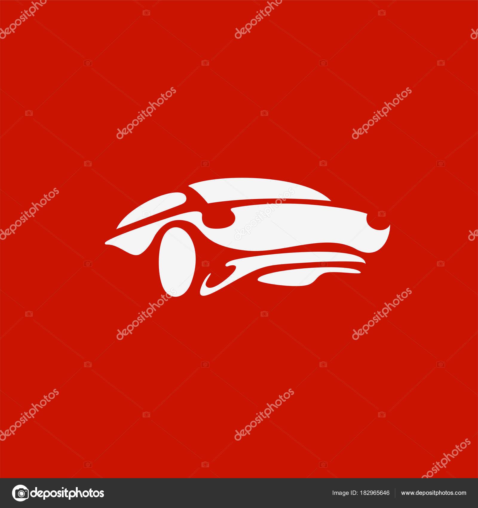Minimal Logo Dellautomobile Sportiva Bianca Di Vettore Vettoriali