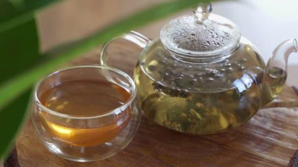 A zöld teát üvegteáskannában készítik. Időintervallum