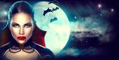 Fantasie-Halloween-Frauenporträt.