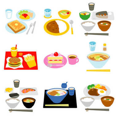 Typical meals in Japan
