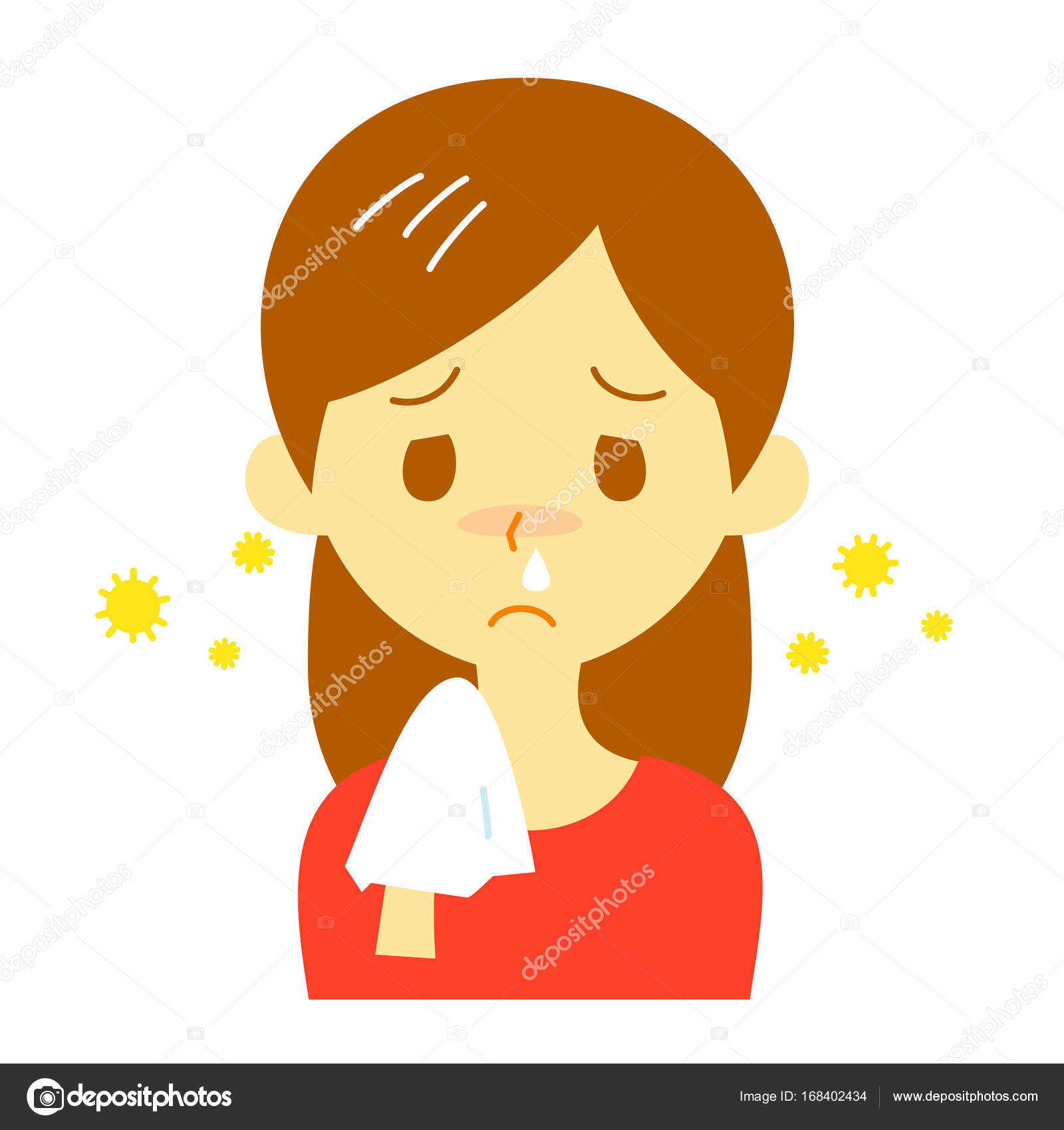 Hay fever, runny nose, woman — Stock Photo © niow #168402434