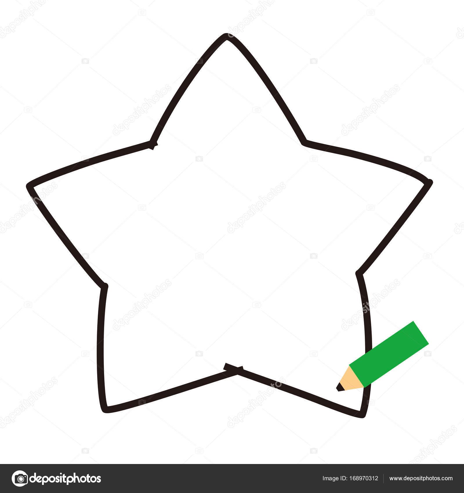 marcos de lápices, forma de estrella — Fotos de Stock © niow #168970312