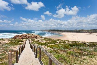 Portugal - Algarve - Praia da Bordeira - Europe stock vector