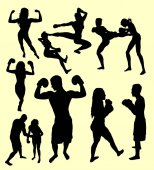 Photo Boxing sport silhouette