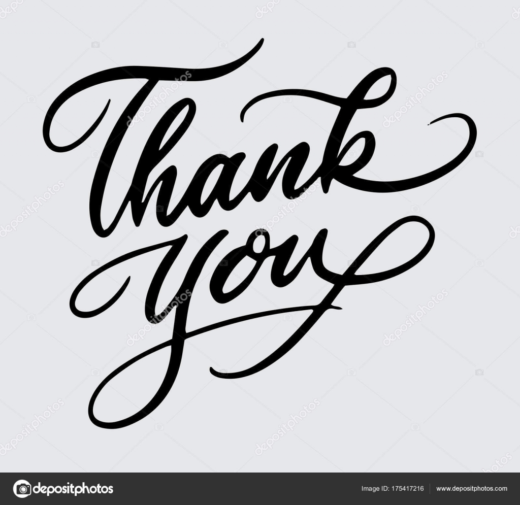 Thank You Handwriting Typography Good Use For Logotype Symbol Cover Label Product Brand Poster Title Or Any Graphic Design Want