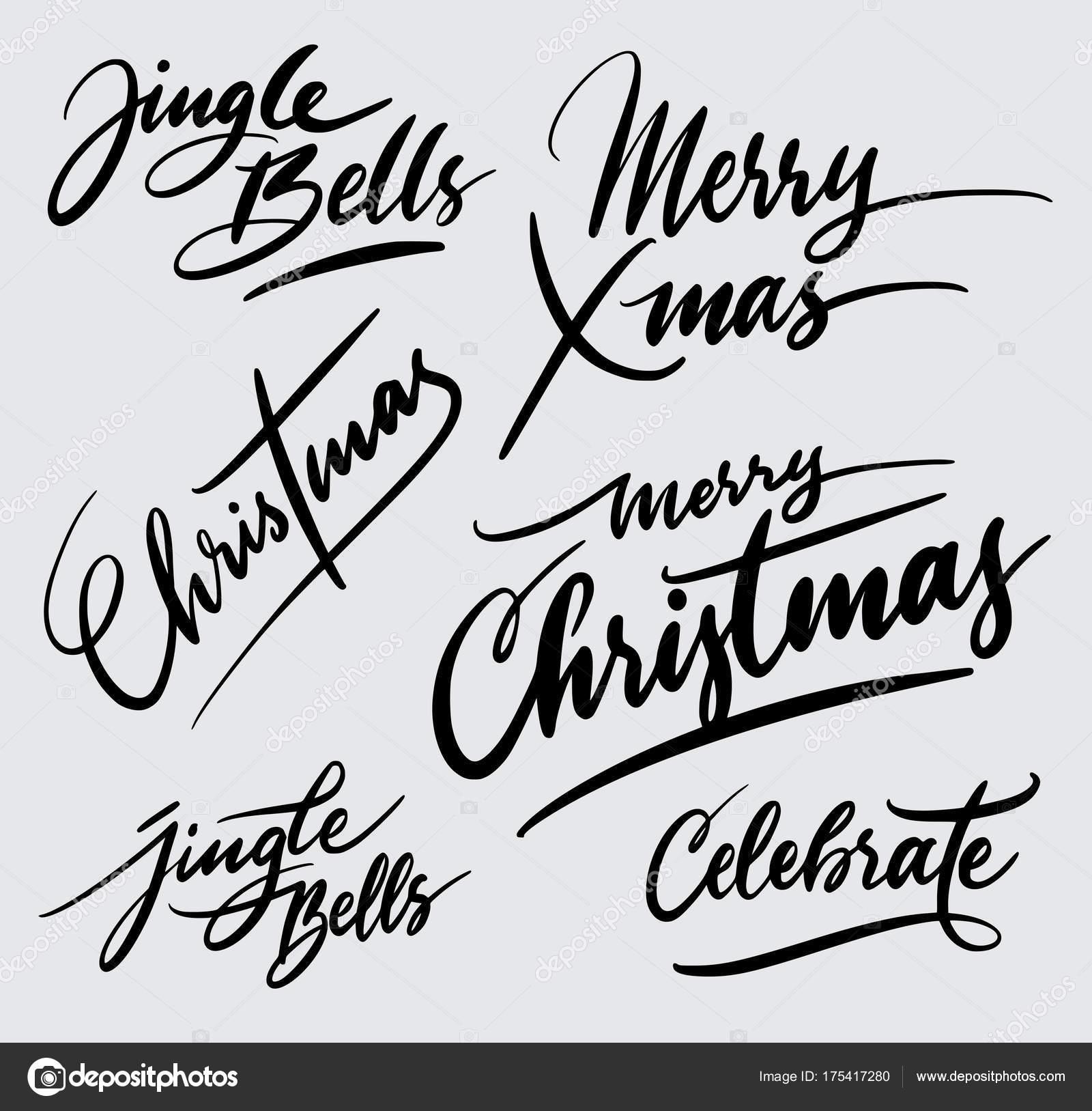 メリー クリスマス イベント手書きタイポグラフィ ロゴタイプ