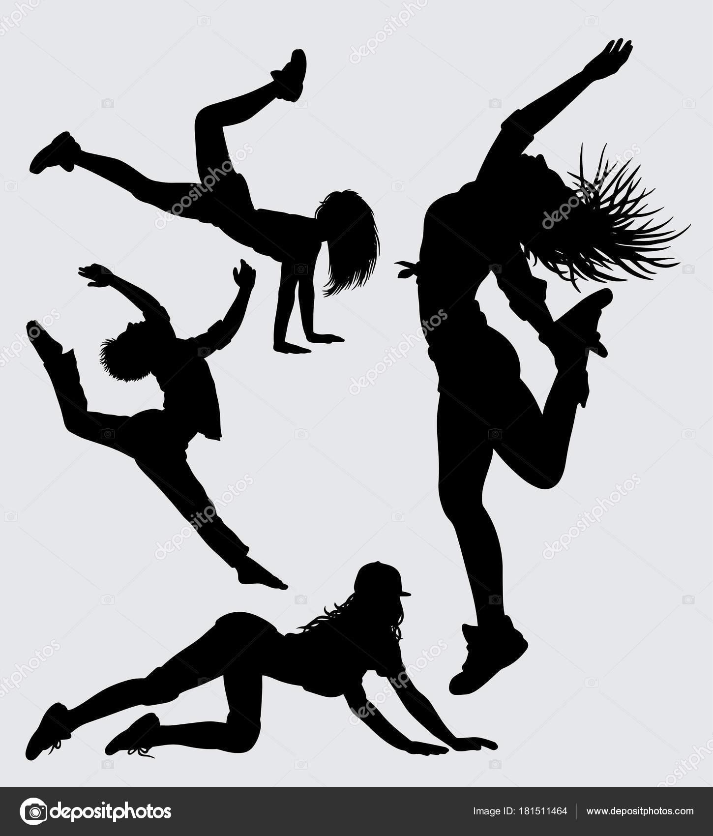 Dansen Sport Silhouet Goed Gebruik Voor Symbool Logo Web Pictogram