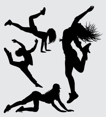 Dancing and sport silhouette Good use for symbol, logo, web icon, mascot, sign, sticker, or any design you want