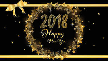 Elegant banner of Happy New year 2018