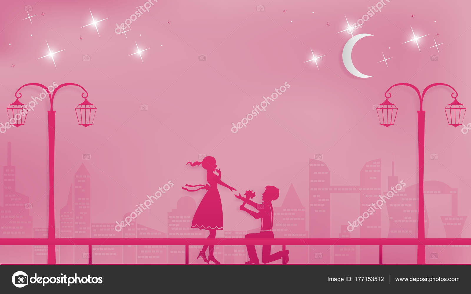 You Marry Cute Illustration Young Couple Happy Valentine Day