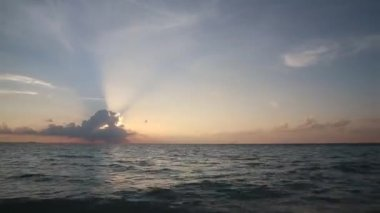 Timelapse sunset over the ocean