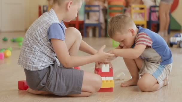 Children Kid and Baby Play With Blocks