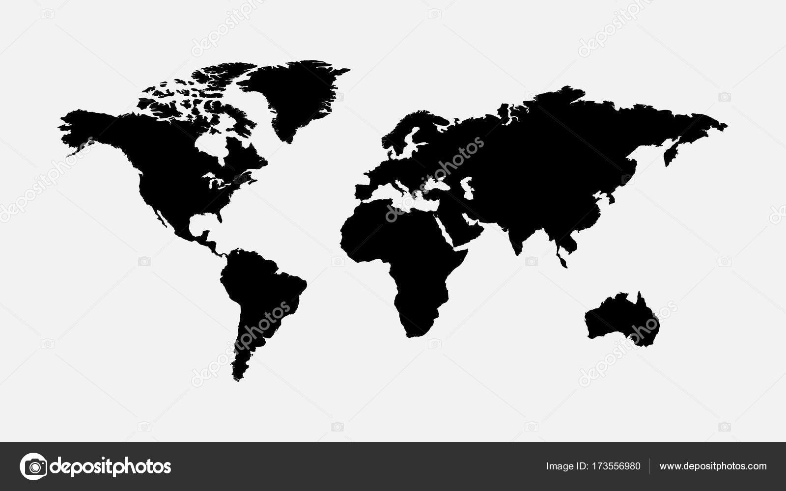 Blank grey world map isolated on white background best popular blank grey world map isolated on white background best popular world map vector globe template gumiabroncs Images